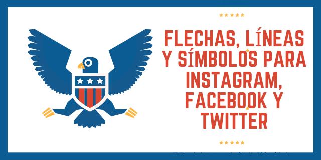 Flechas, líneas , Emojis y símbolos para Instagram, Facebook y Twitter